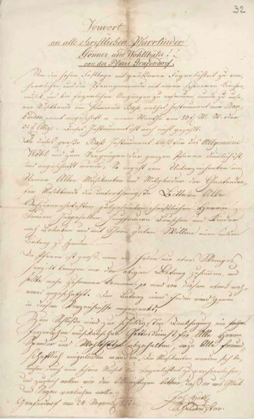 Brief aus dem Jahre 1855
